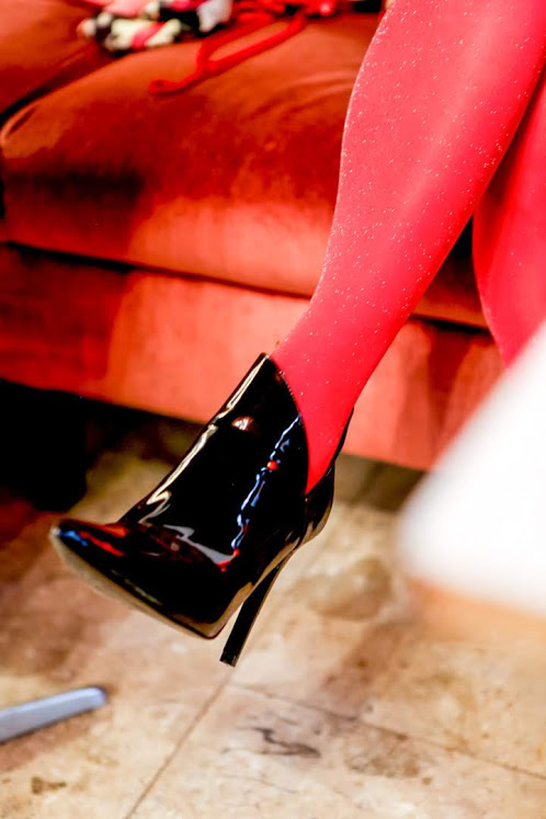 red tights for Valentine´s day